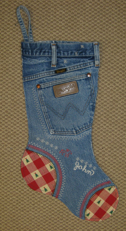 Make a DIY denim stocking