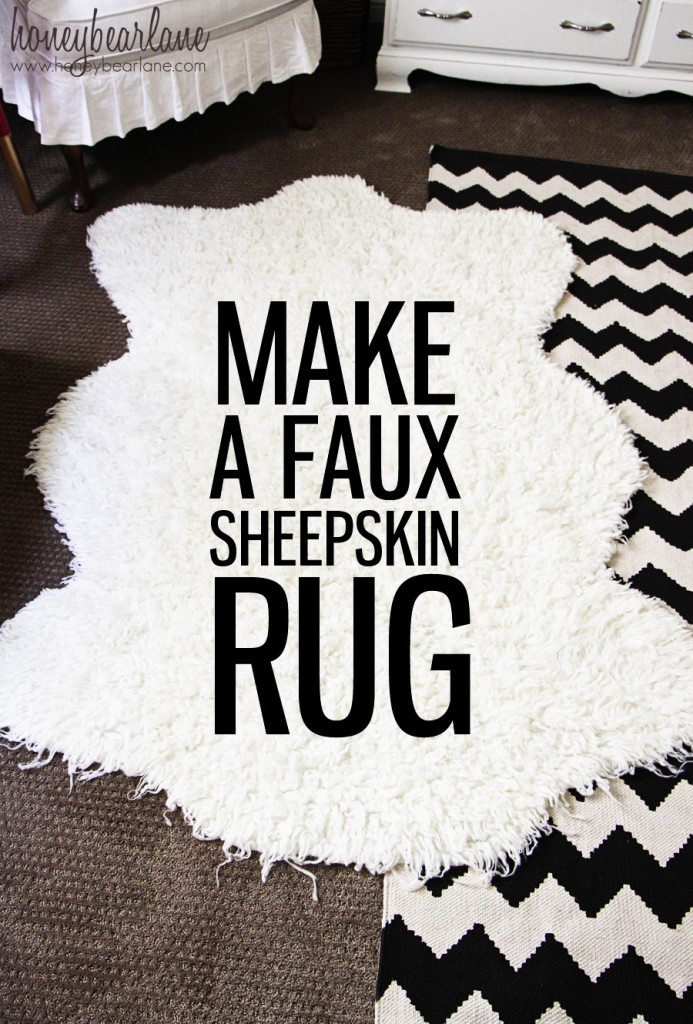 Easy DIY faux sheepskin rug tutorial