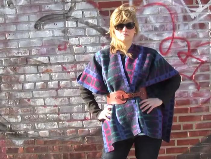 DIY blanket scarf/poncho tutorial