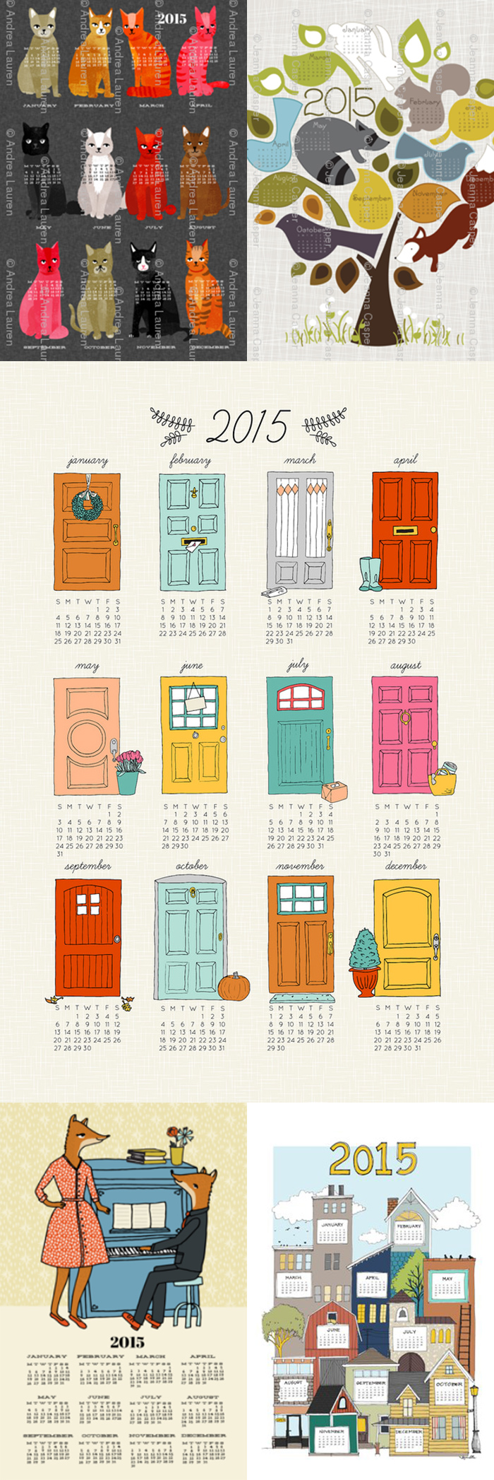 Fabric calendars from Spoonflower