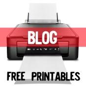 Blog themed printables