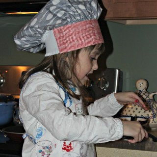 sew a chef's hat