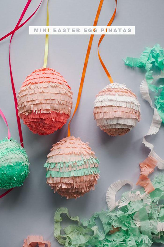 DIY piñata eggs