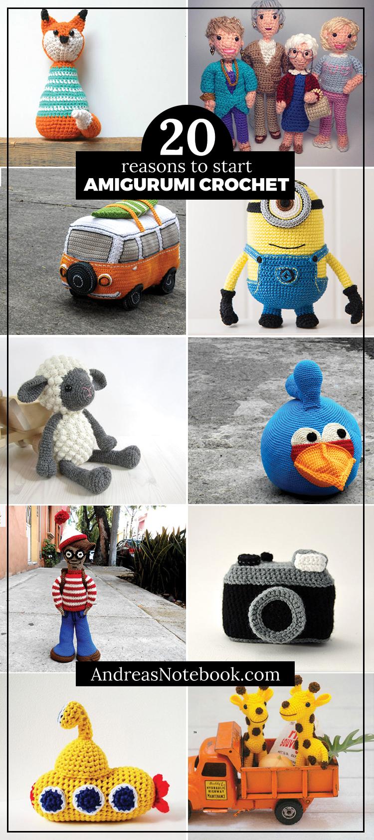 Yellow Submarine Big&Small, Cherry Love Crochet | Crochet dolls ... | 1683x750
