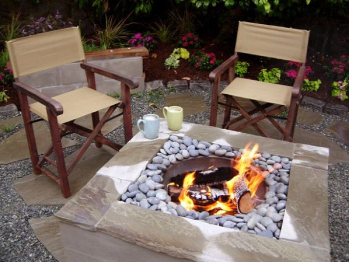 DIY Square Fire Pit Tutorial