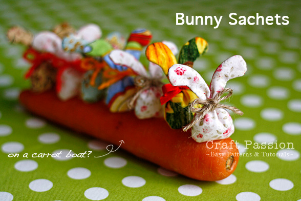 Tiny bunny sachet bags