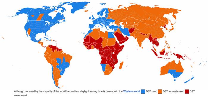 Daylight Saving Map