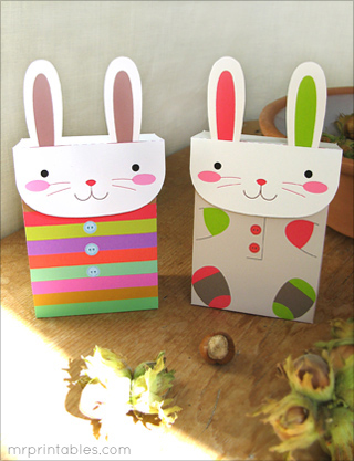 Free printable bunny party favor bags