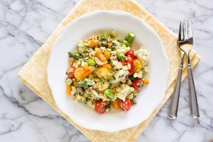quinoa and veggie scramble recipe