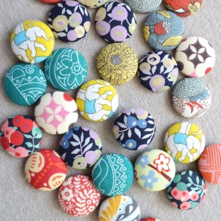 DIY fabric scrap magnets