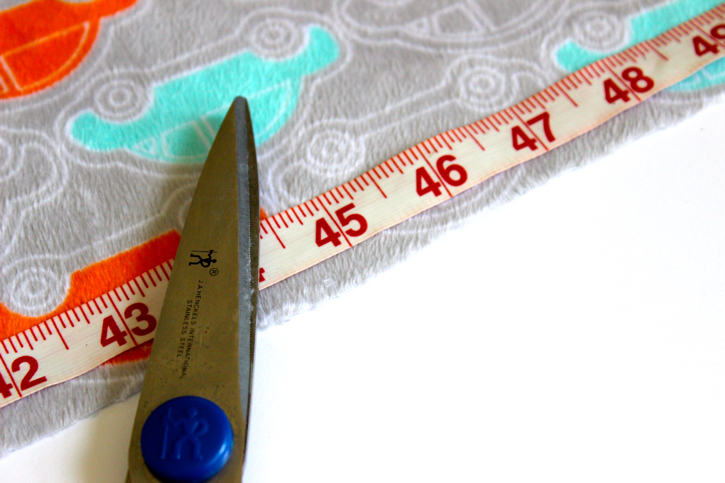 Measure and Cut  for Minky Baby Blanket Tutorial