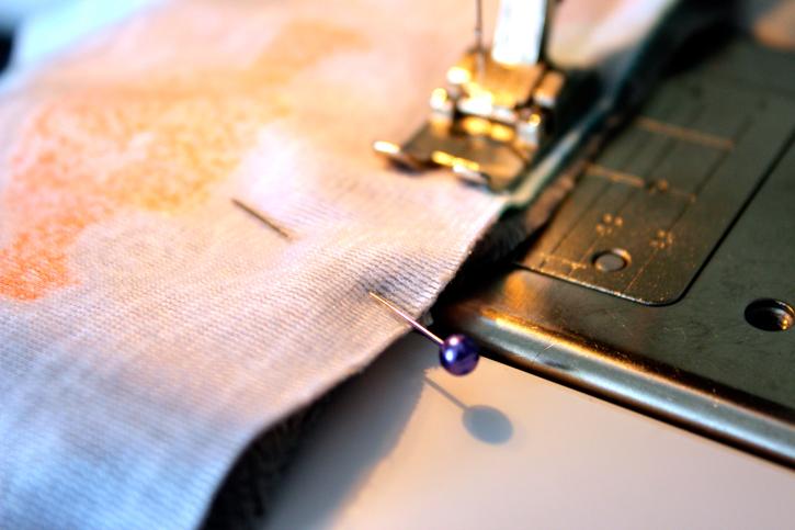 Sew edges leaving 1/2 inch seam  for Minky Baby Blanket Tutorial