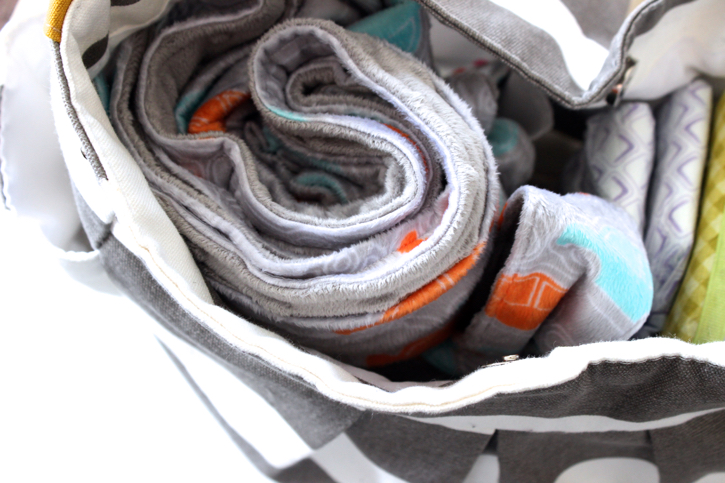 Minky Baby Blanket Tutorial for parents on-the-go