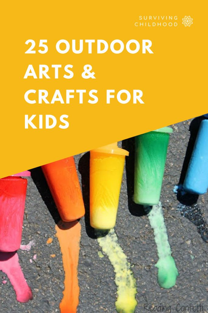 25 Outdoor Arts And Crafts For Kids