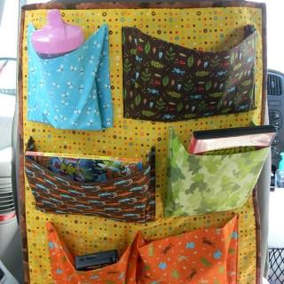 Make your own car seat back organizer