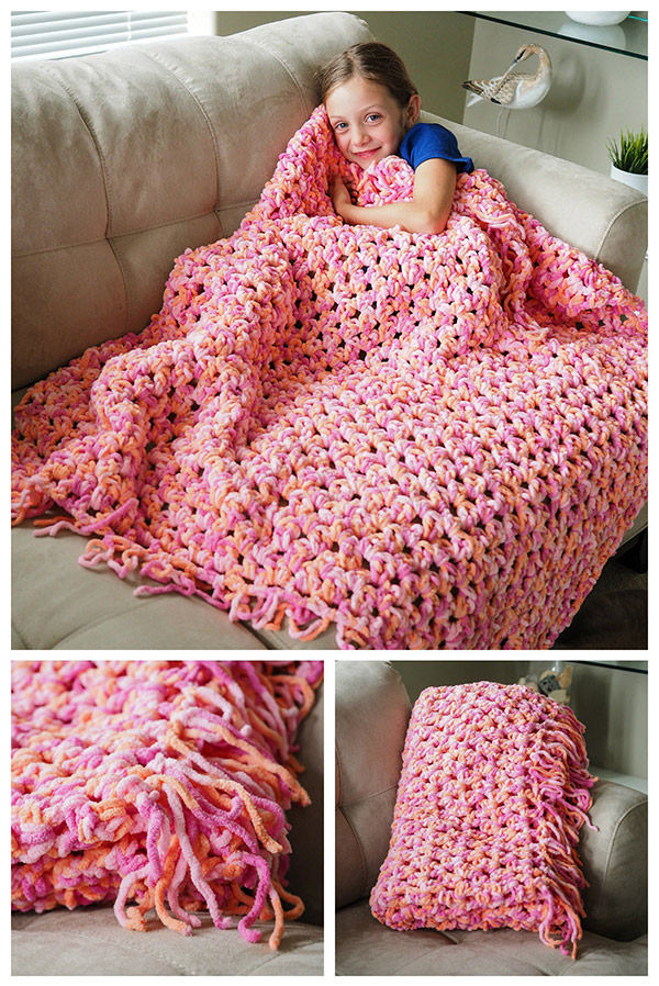 Easy crochet blanket tutorial! Isn't this pretty!