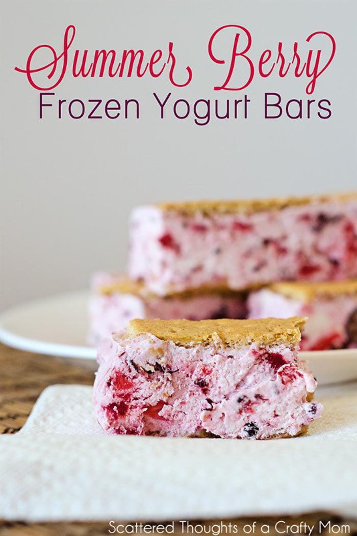 Berry Frozen Yogurt Bars