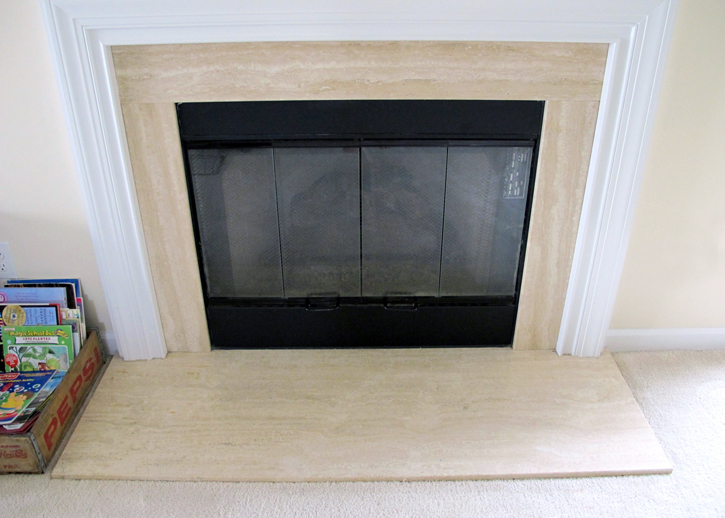 how to cover the brass on your fireplace!