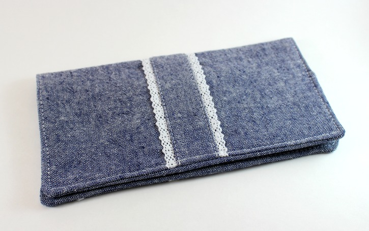 Final Checkbook Cover with Pleated Front