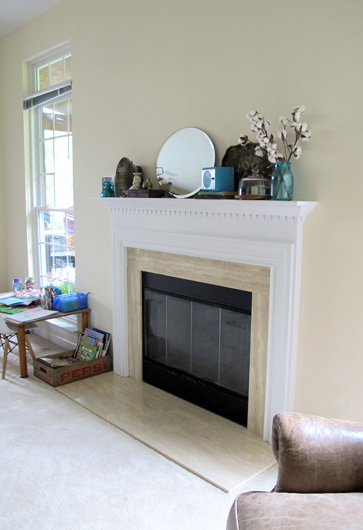 fireplace makeover for under $20