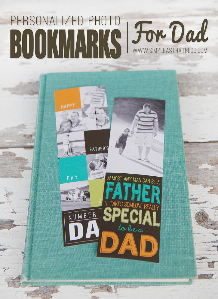 Printable Personalized Bookmarks for Dad