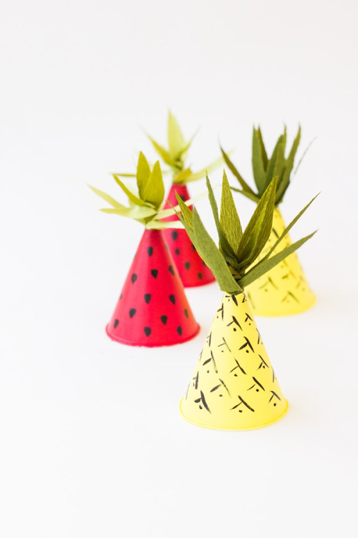 Fruit-Inspired-Mini-Party-Hats-DIY-600x900