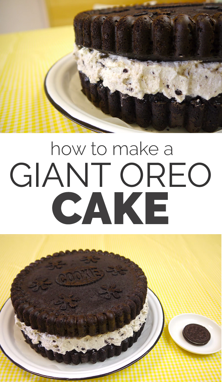 how to make a giant oreo cake