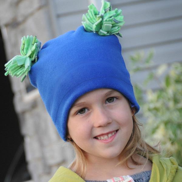 Pom Pom fleece hat pattern - FREE