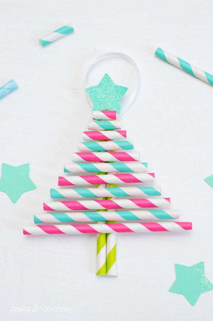 Paper Straw DIY Ornament