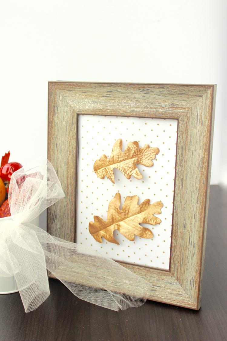 DIY Gold Leaf Framed Art