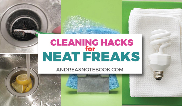 Cleaning hacks for neat freaks