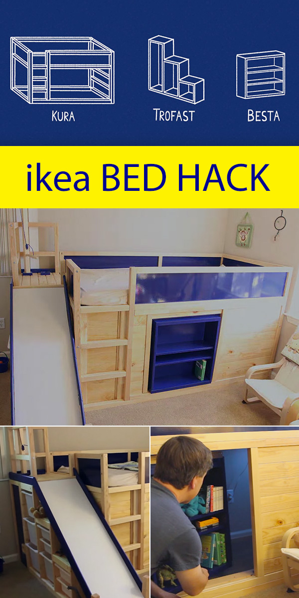Crazy ingenious ikea Hack! Includes a secret room behind the bookshelf, and much more!
