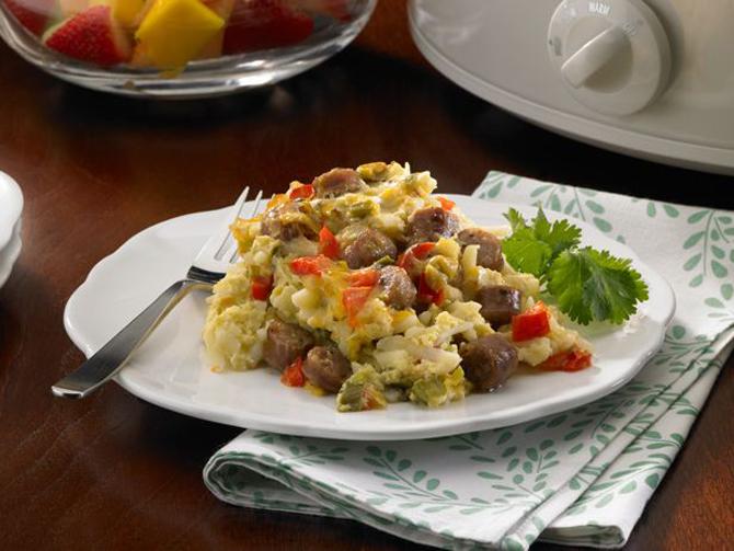 Slow Cooker Overnight Breakfast Casserole Recipe