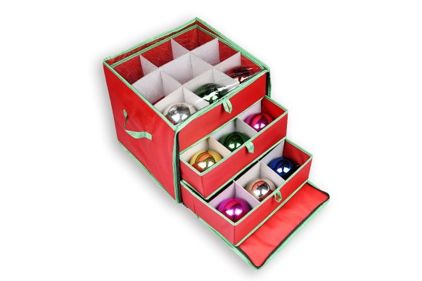 Storage drawers for christmas ornaments