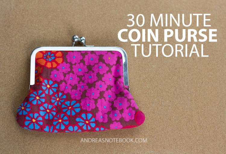 30 Minute Coin Purse Tutorial