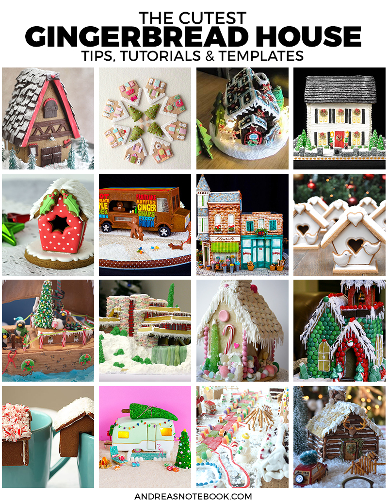 The cutest gingerbread house patterns, templates and tutorials