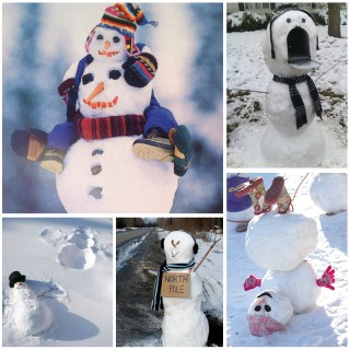 Creative ways to make a snowman