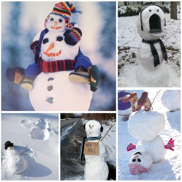 Creative ways to make a snowman