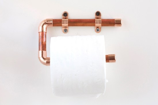 copper toilet paper holder tutorial