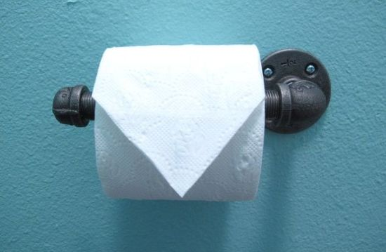 DIY Industrial Chic Toilet Paper Holder Tutorial