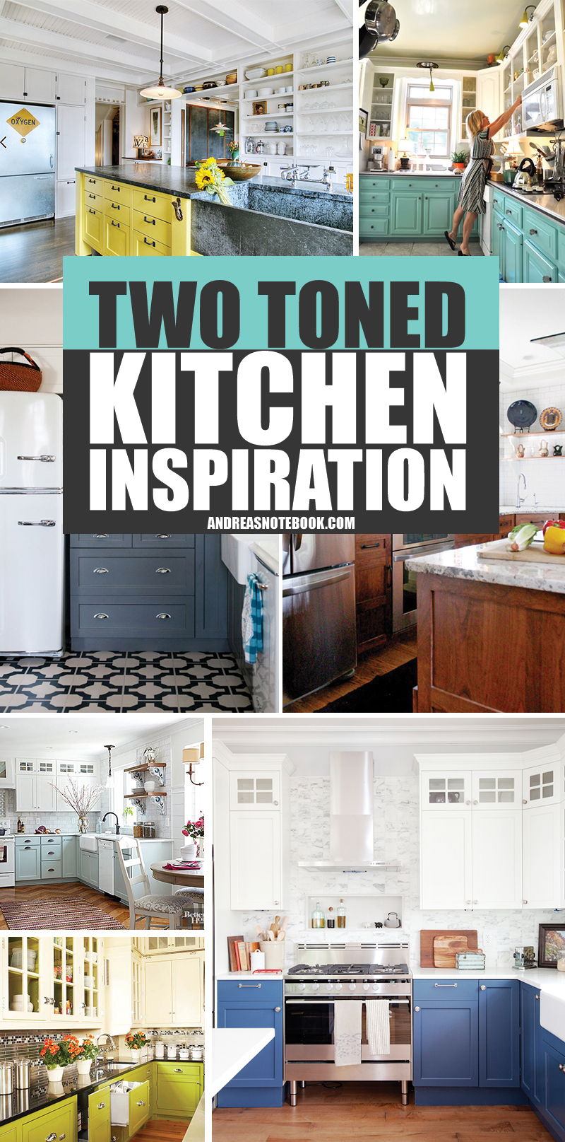 15 two-toned kitchens that are to die for!