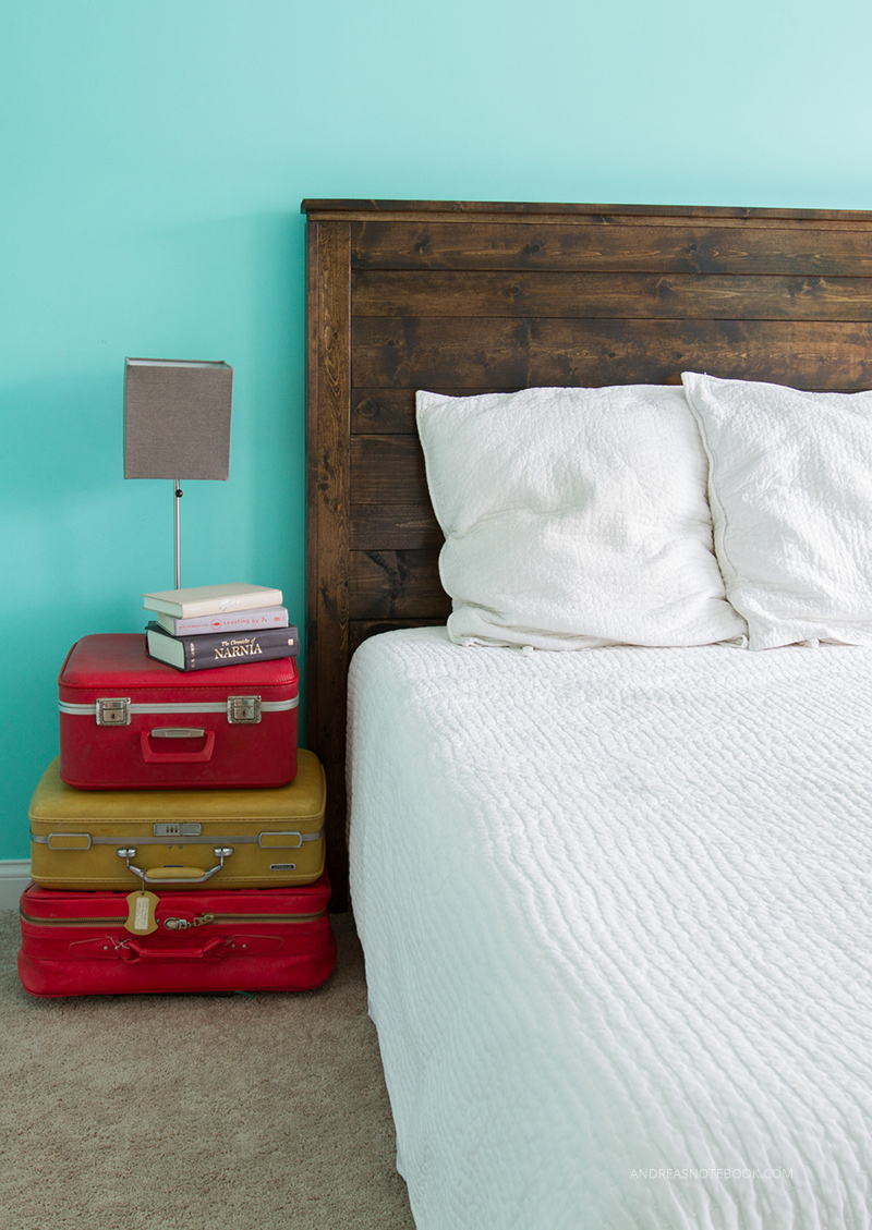 Make your own DIY rustic headboard - AndreasNotebook.com