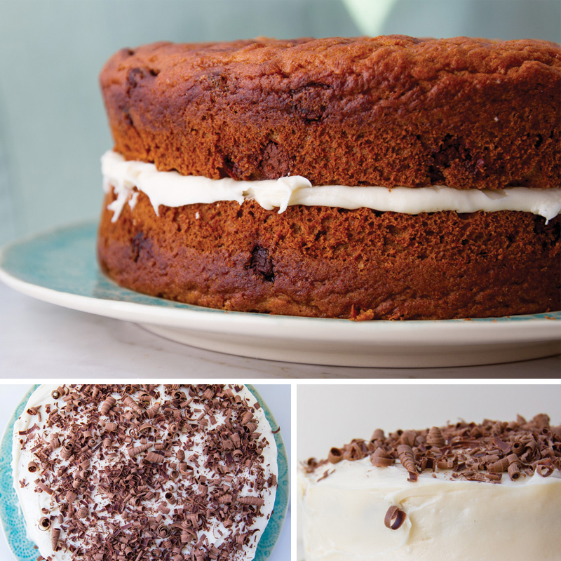 The BEST pumpkin chocolate chip cake recipe
