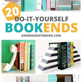 20 DIY bookends tutorials - make your own bookends