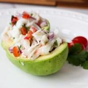 easy crab stuffed avocado recipe