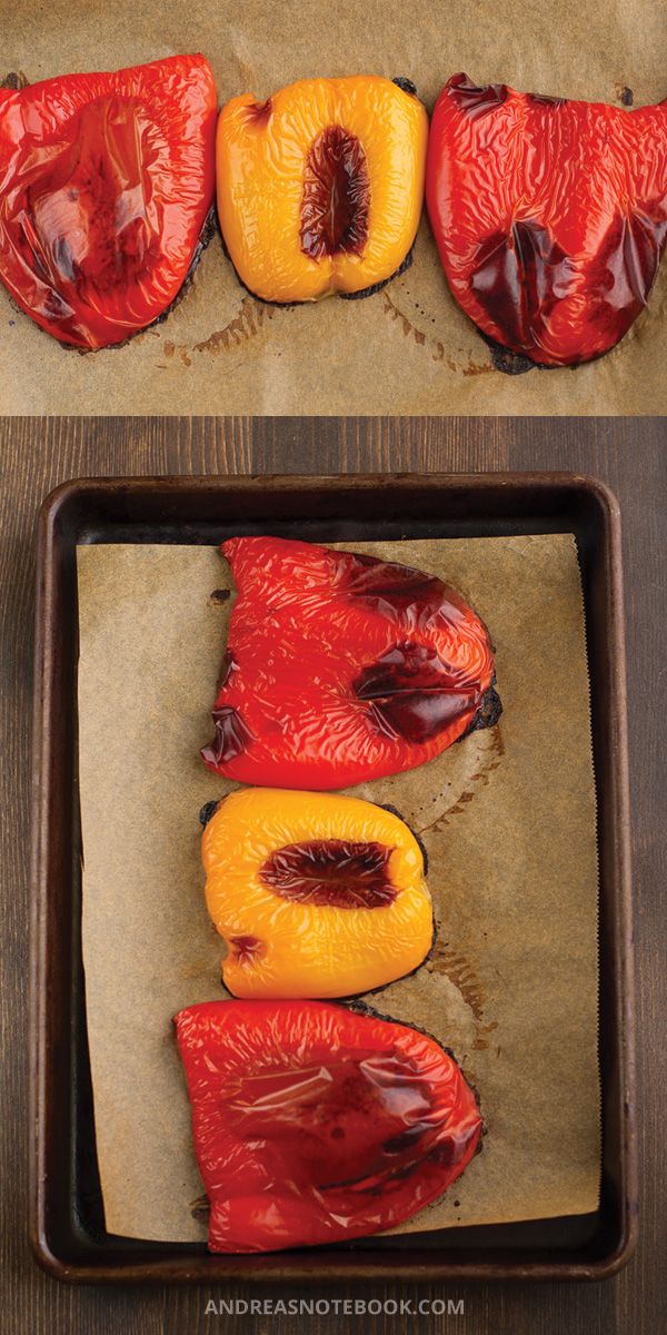 roasted red yellow pepper