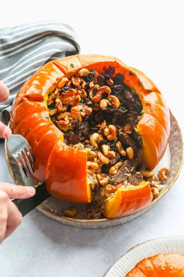 instant pot stuffed pumpkin