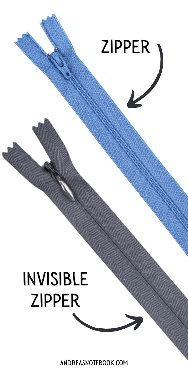 difference between an invisible zipper and regular zipper