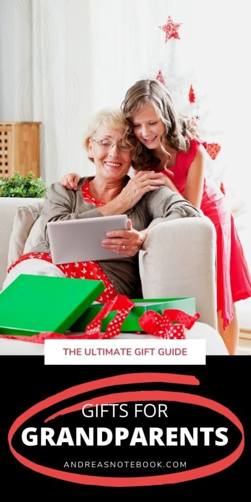 girl hugging grandma opening gifts
