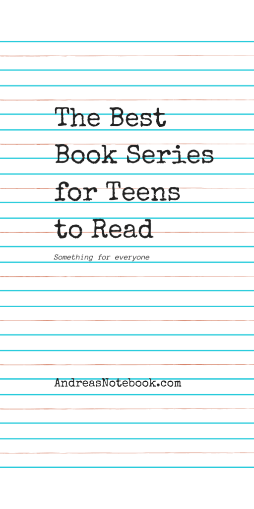 book series for teens poster - on lined paper